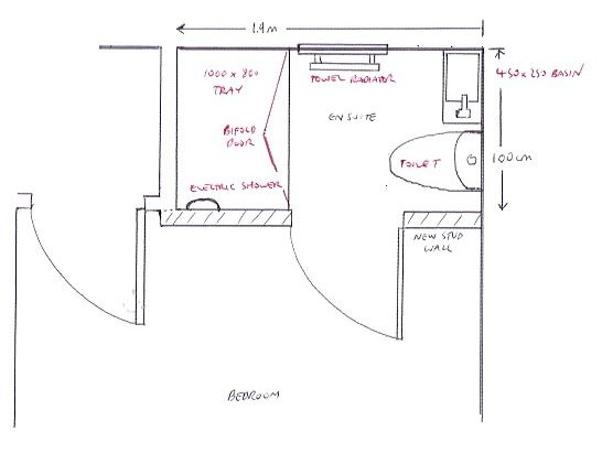 Image Of Small En Suite Plan With Bathroom Installation In Leeds