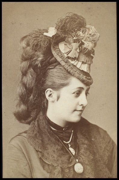 Hat - Marie de Gary ca 1880 I am pretty sure there would be some horse hair and padding in this amazing do!
