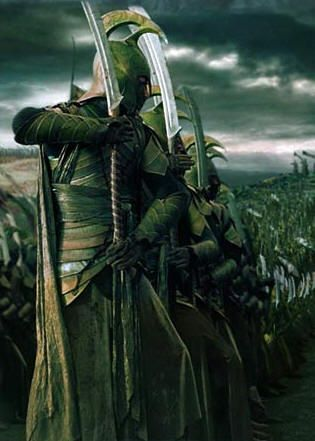 Elven warriors in Lord of the Rings