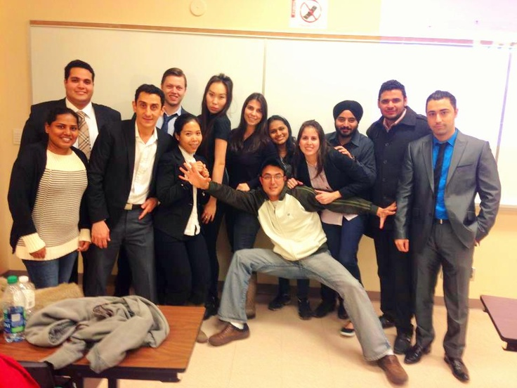 IBS students after finishing the project MGMT course 2012 toronto
