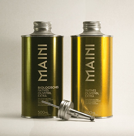 Maini olive oil #packaging