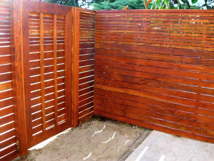 Modern Wood Gate W Horizontal Fencing Ogrodzenia