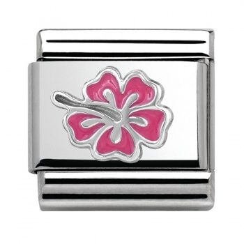 Nomination Hibiscus Pink Women's Charm Stainless Steel Enamel 330202/24