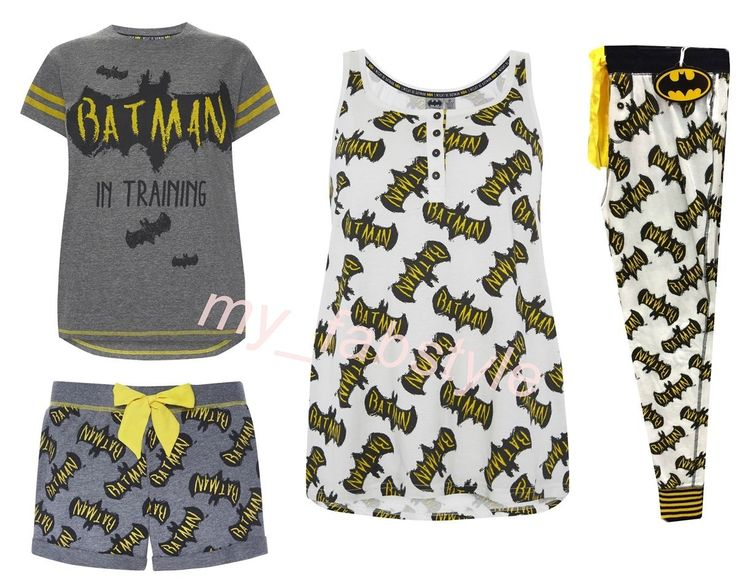 BATMAN T-SHIRT TOP Ladies Women's pyjama Bottoms PRIMARK