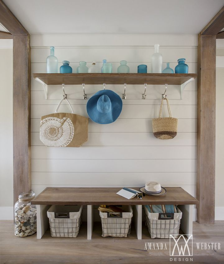 beach house mudroom | Amanda Webster Design