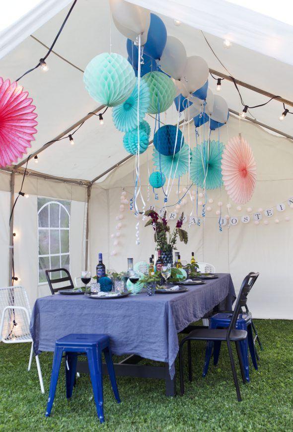 Party tent decoration! Styling by Tone Kroken Photo Yvonne Wilhelmsen kkliving.no