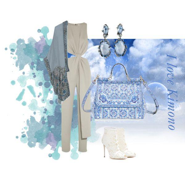 I love Kimono by baebaoni-bijoux on Polyvore featuring moda, Anna Sui, Halston Heritage, Dolce&Gabbana and Alexis Bittar