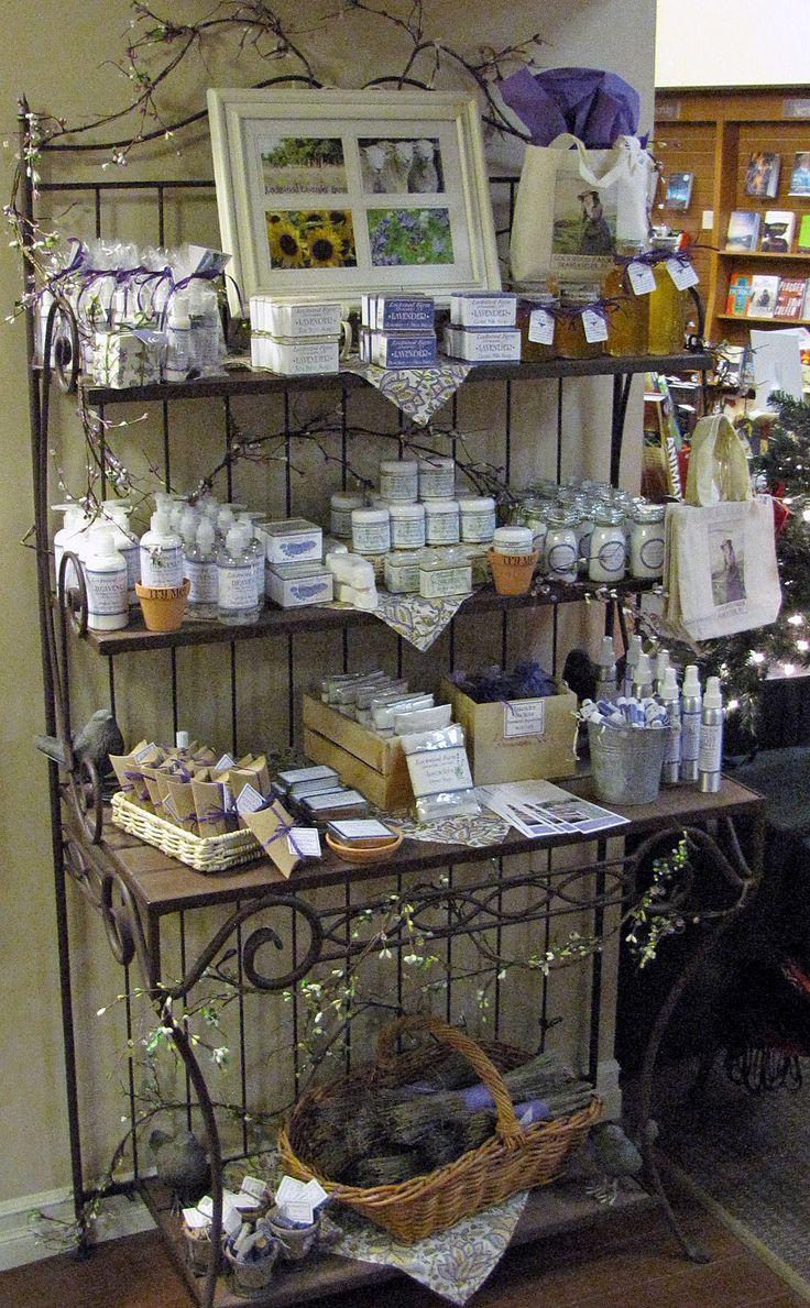 Lockwood Lavender Farm display at Creekside Books & Coffee.