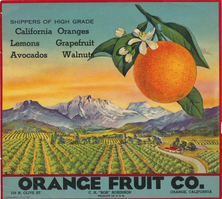 Crate label for the Orange Fruit Company, Orange, California, ca. 1945 Date: ca. 1945 Contributing Institution: Orange Public Library