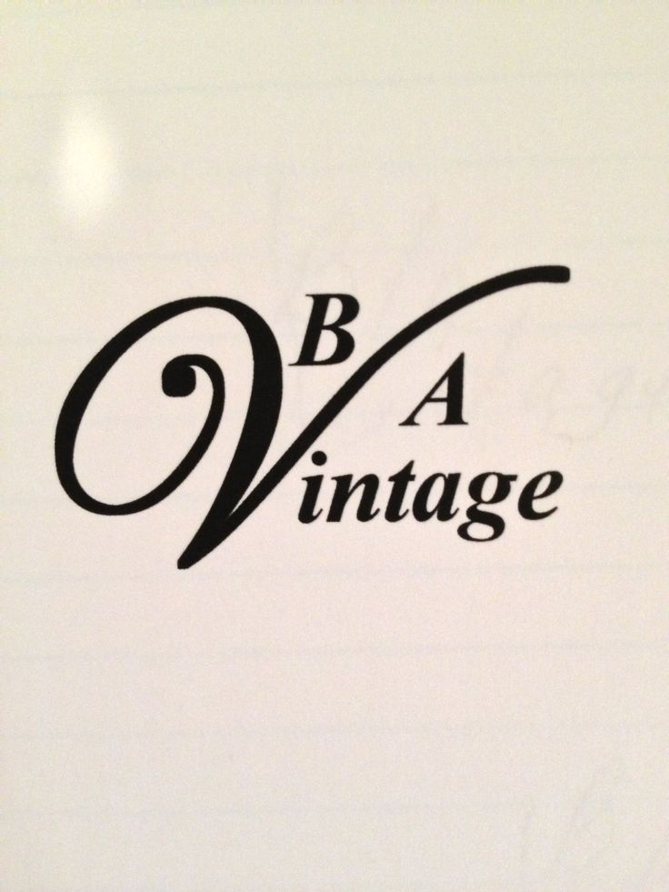 my logo for b/a vintage