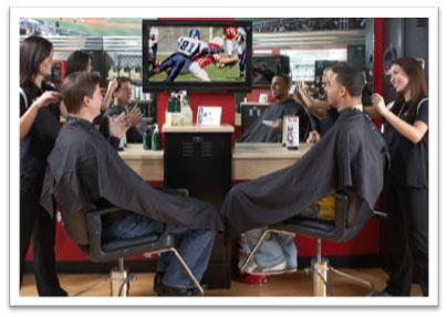 Sport Clips reaches target market. Marketing to men.