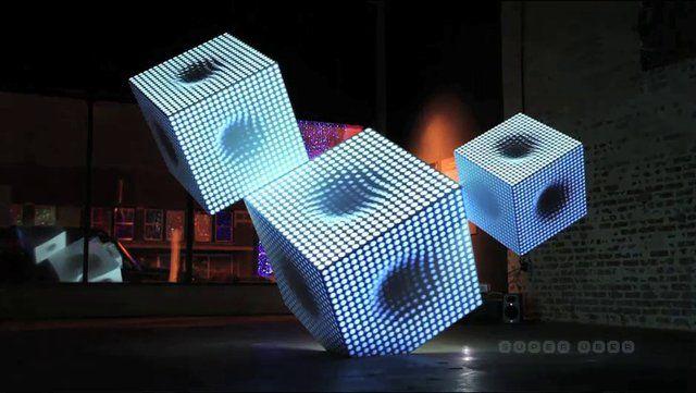 Cubos de Luz | Light Cubes. A SuperUber foi escolhida para representar o Rio de Janeiro (e o Brasil) na primeira Bienal Internacional da Cri...