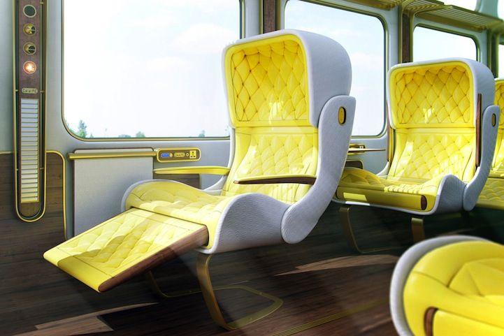 Futuristic Luxury Eurostar Seat Designs