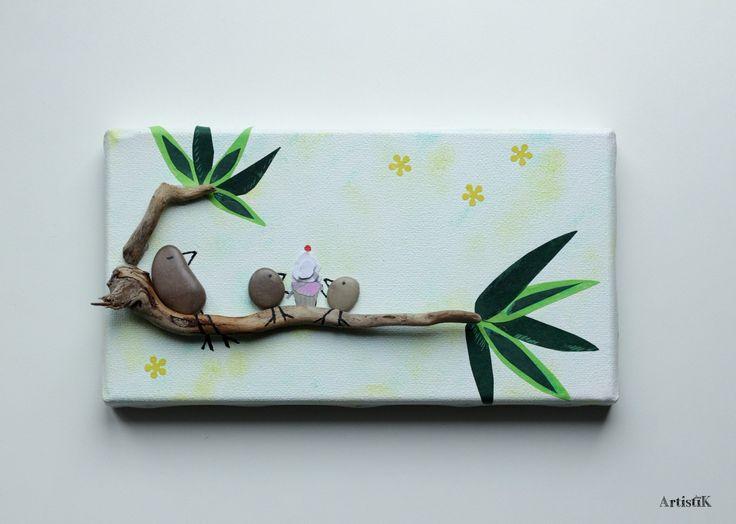 Les 84 meilleures images du tableau tableaux galets bois for Decoration bois flotte galet