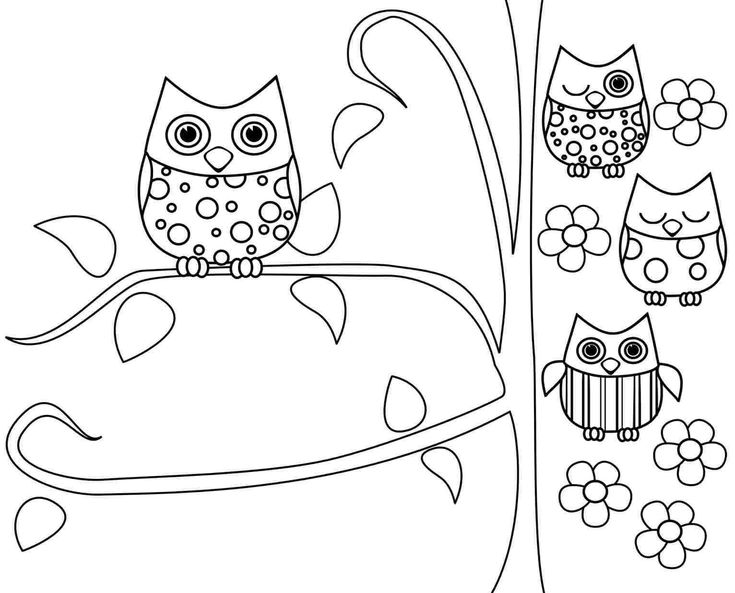owl coloring pagesfree printable