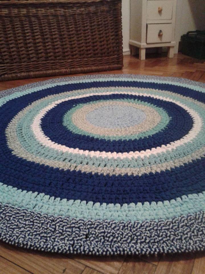 Alfombras Tejidas A Crochet Con Totora 2 Mt (dm) - $ 2.100,00 en MercadoLibre