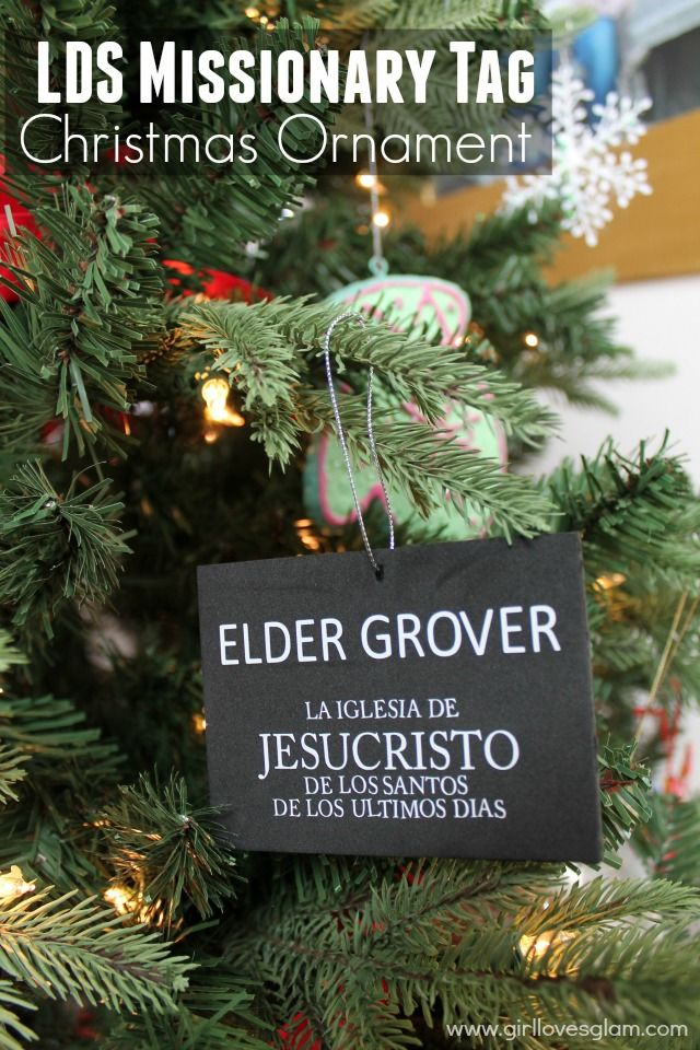Easy LDS missionary tag Christmas ornament tutorial that makes the perfect gift for returned missionaries!