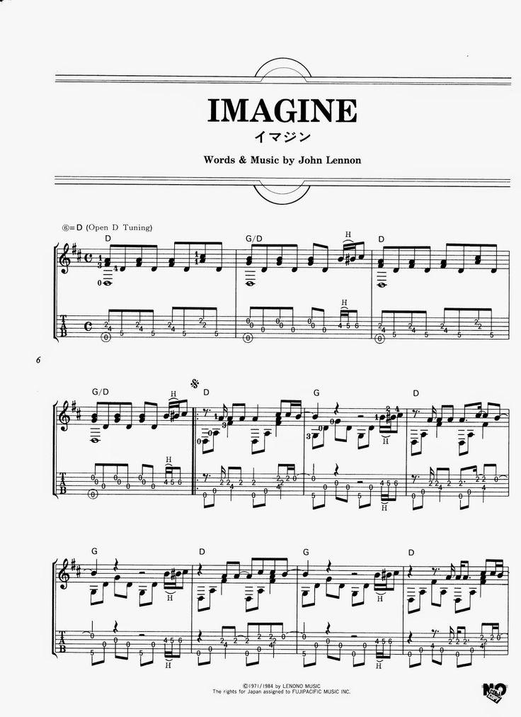 Partituras para Guitarra: John Lennon - Imagine