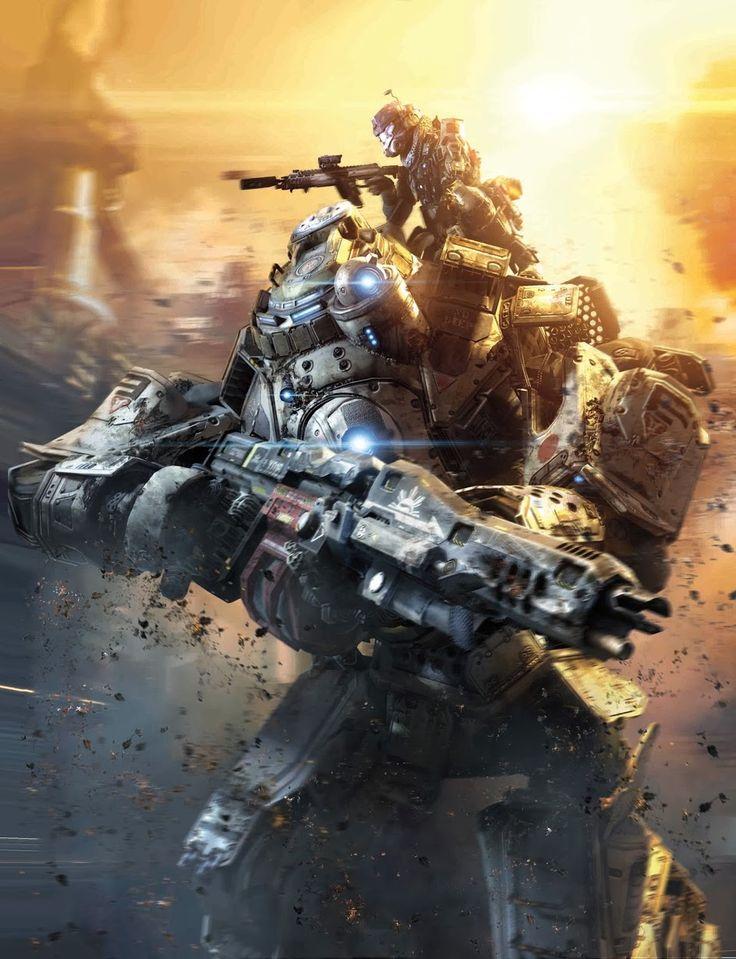 Titanfall, amazing multiplayer shooter PC/Xbox videogame by Respawn Entertainment.