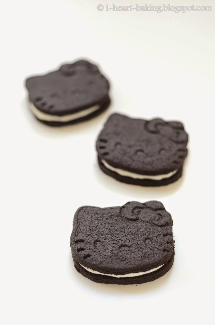 i heart baking!: hello kitty oreos (hello kitty TKOs)