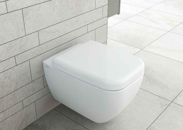 5742 Wall-hung WC pan, rimless - 91-003-009 Toilet seat, soft closing