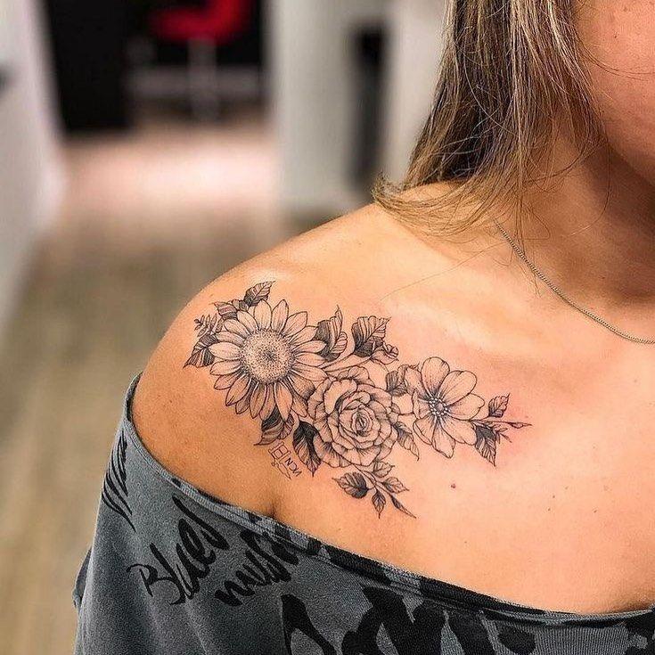 123 Tatuagens (@123tatuagens) • fotos e vídeos do Instagram | Tatuagem no ombro de girassol, Tatuagem de manga, Tatuagem girasol