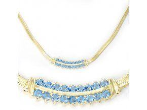Ester Blue - pozlacený náhrdelník (Délka 45 cm)