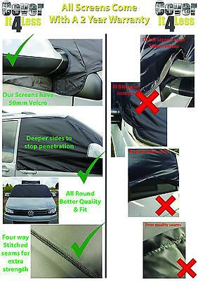 VW Transporter Van T5 T6 Window Screen Cover Wrap Frost Black Out Blind Camping