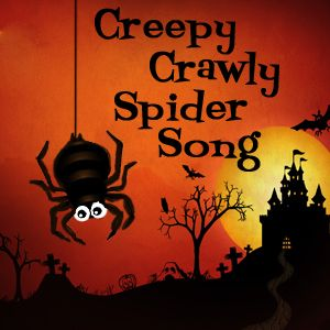 Easy-to-teach & easy-to-learn Halloween songs for the classroom. Creepy Crawly Spider song is a Halloween take on Itsy Bitsy Spider song.