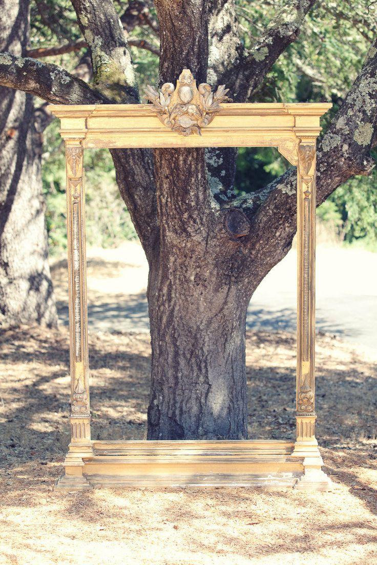 #Wedding #Backdrop #Frames | Wedding on http://stylemepretty.com/2012/11/07/backyard-santa-cruz-wedding-from-danielle-gillett-photography/