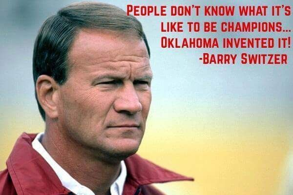 Coach Barry Switzer