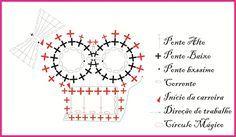 Crochet skull motif or applique!