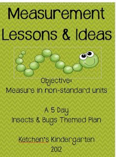 Insect & Bug Themed Measurement Lessons. No Ruler Needed.