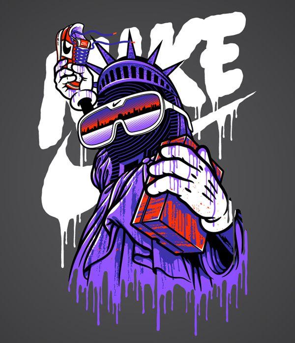 NIKE T-Shirt Graphics by SHORT, via Behance