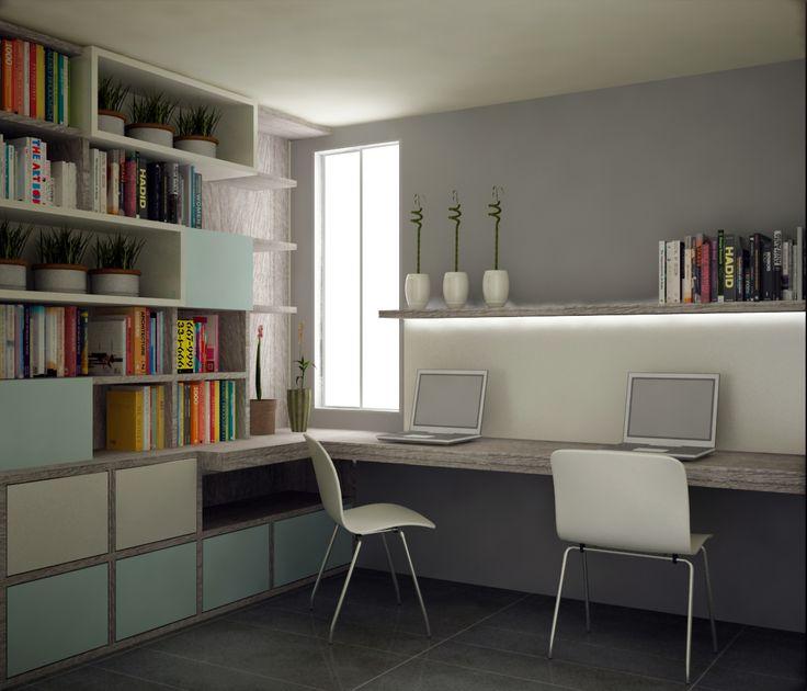 Estudio y biblioteca