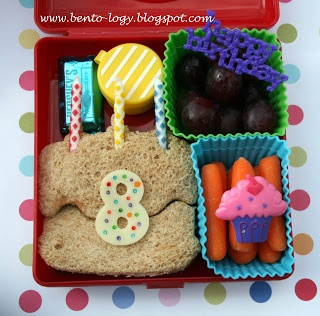 birthday cake bento lunch