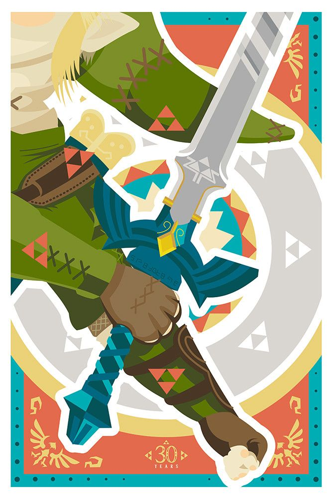 """- Inspired by The Legend of Zelda - Fine Art Giclee Print - Limited Edition of 30 - Approximately 12"""" x 18"""""""