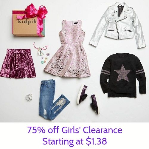 75% off Girls' Clearance Clothing : Starting at $1 38 in