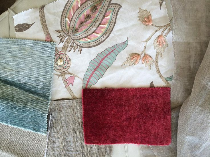 Gorgeous mix of Linens embroided cotton and luxurious velvets for furniture upholstery sheer drapes and cushion accessories. The rich Peony  velvet will add warmth and richness for the cooler months.#byDizine#interiordesign #hamptonsstyle #luxury
