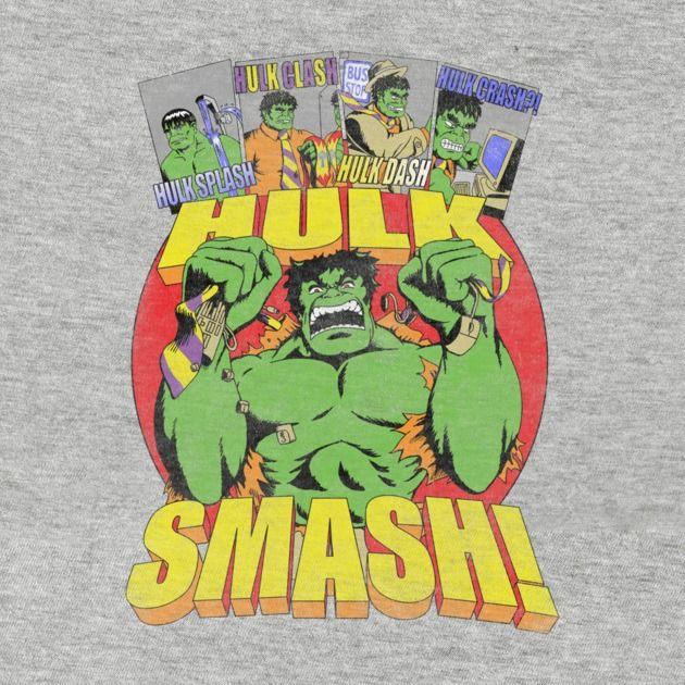 Awesome 'HULK+SMASH+The+System' design on TeePublic!