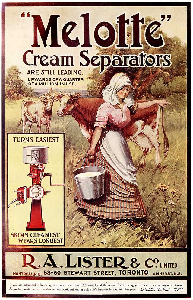 1909 advert for a cream separator