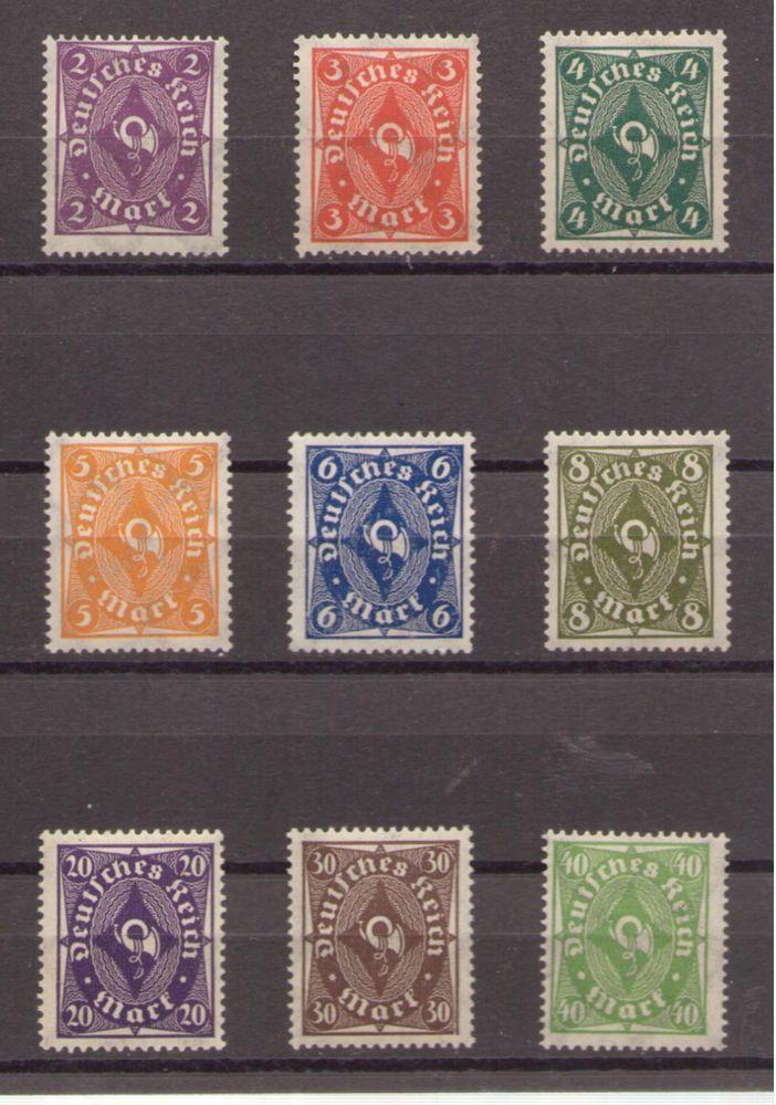 1922 Deutsches Reich Posthorn,einfarbig.Wz.Waffein  Mi. 224-232 **