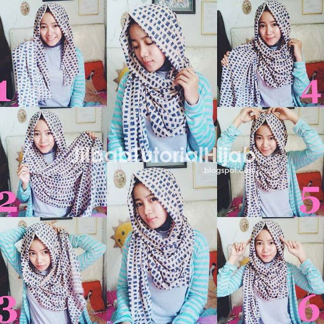 tutorial hijab motif