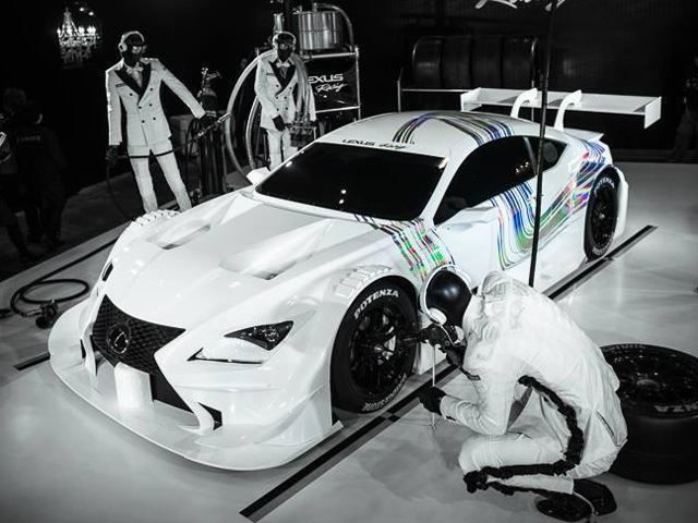 Lexus race car based off of Lexus sports cars with spoiler, nice paint job, and dope fronting