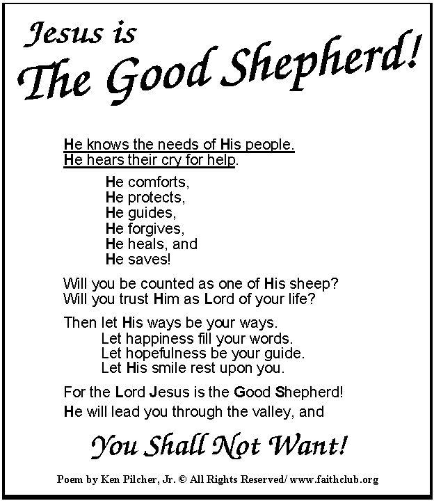 Jesus The Shepherd Google Search Bible Resources