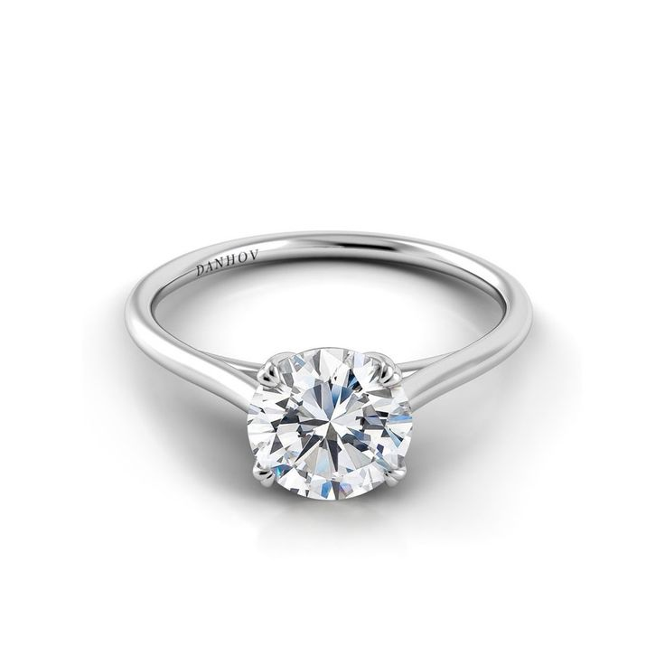 Danhov Classico Double Prong Diamond Engagement Ring
