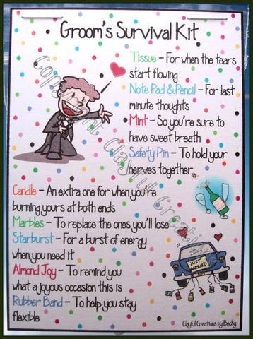 Grooms Survival Kit Poem