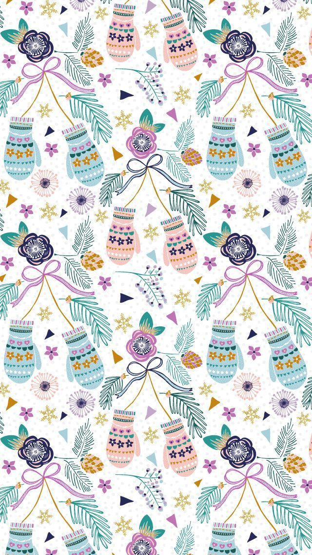 Christmas Pattern by Alice Perry Designs ★ Find more Seasonal wallpapers for your #iPhone + #Android /prettywallpaper/