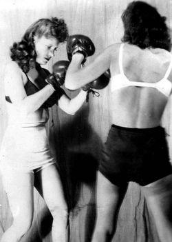 Women Boxers 1940s.