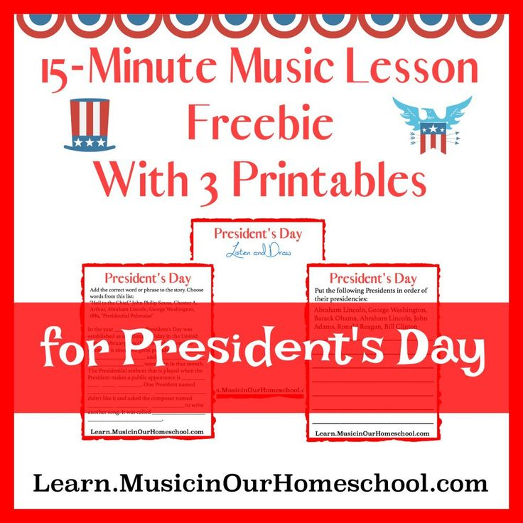 231 best 20th century music images on pinterest music ed music presidents day printable pack for 15 minute music lesson for presidents day free 3 fandeluxe Choice Image